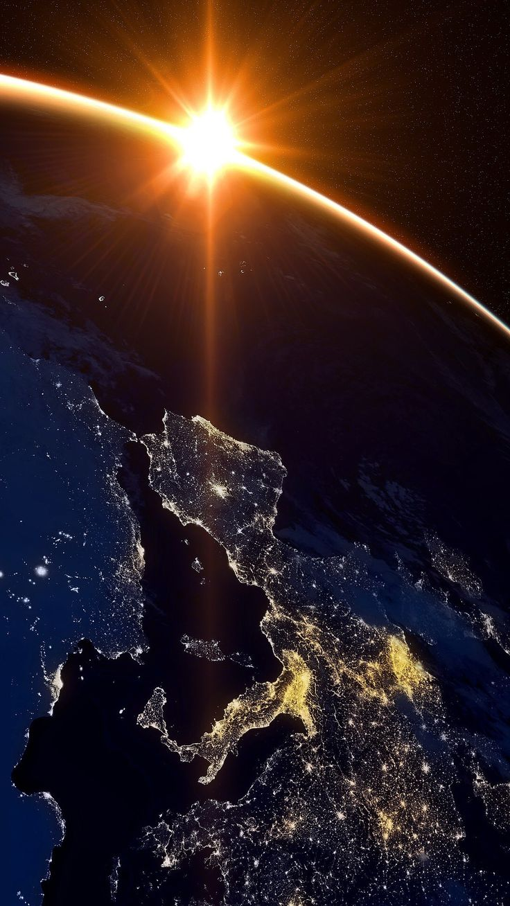 Europe at midnight...look at the Netherlands (at the right)...it is all light ! That's us then! :) :):)