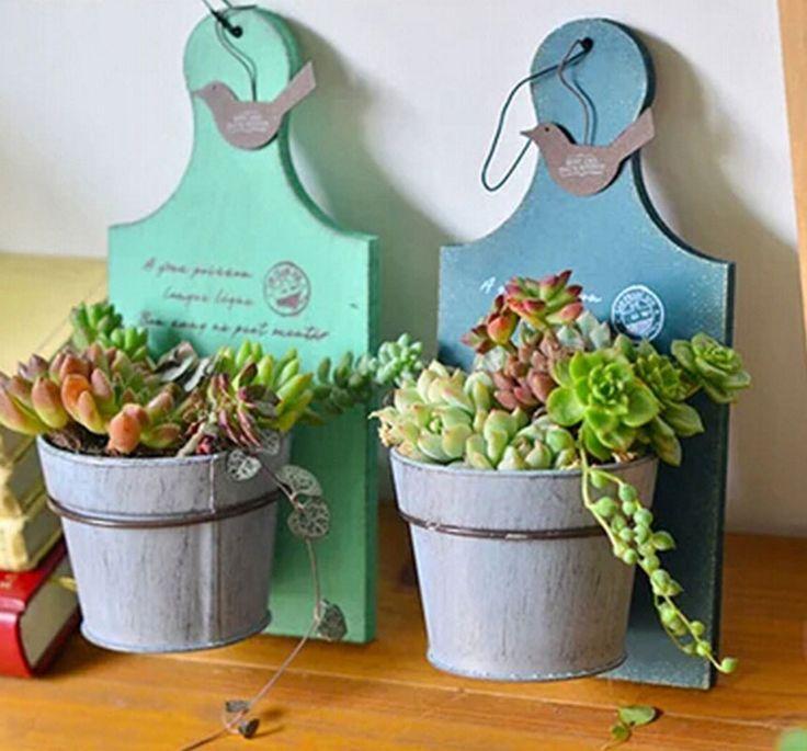 Жесть горшки цветочные горшки кашпо подставки деревянные металлические вазы для цветов Винтаж закончить организатор рабочего стола домашнего украшения