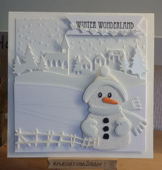 ik heb een winterse kaart gemaakt in de kleur wit  toepasselijk dacht ik nu, met al die kou en een klein restje sneeuw hier en daar,   hier ...