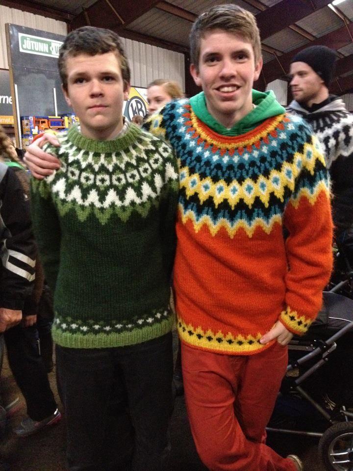 Icelandic wool sweater.