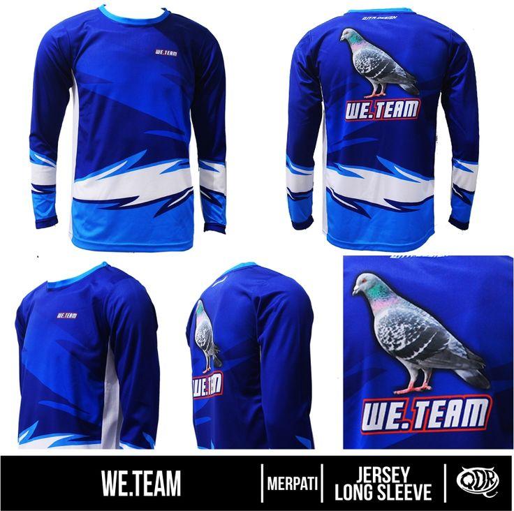 We Team (Jersey Merpati) Bahan: Dry-fit printing: sublimasi untuk pemesanan: BBM 543D3DBB Qdr online shop WA/LINE 081222970120