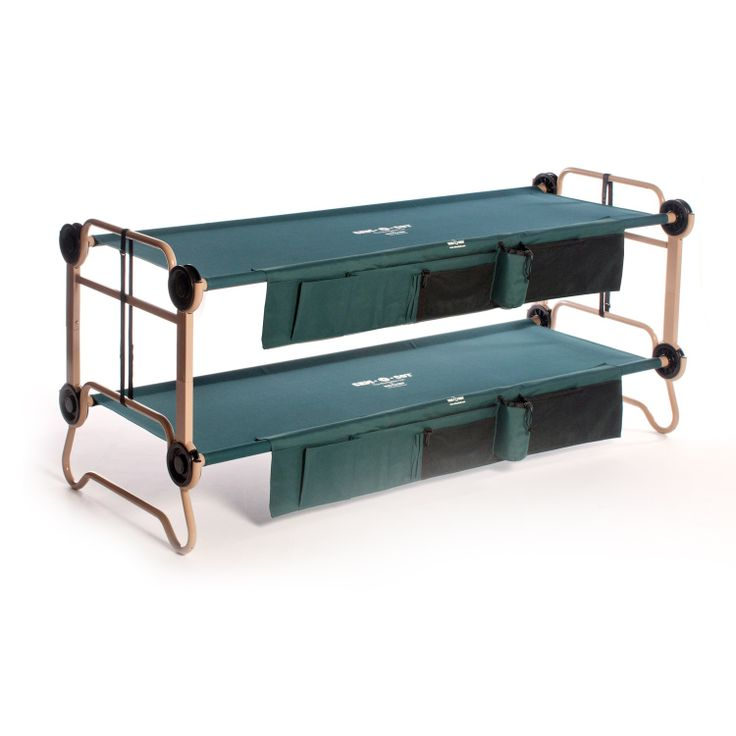 Lightweight and durable, this portable bunk bed is perfect for camping and accommodating overnight guests. Fully collapsible for easy storage and transport, this versatile bunk bed is rugged enough for use in a range of outdoor environments.