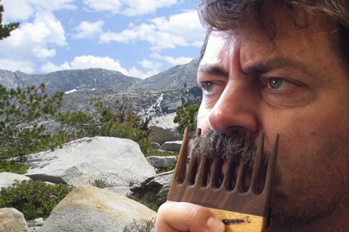 Ron Swanson Mustache Comb (c/o Offerman Woodshop)