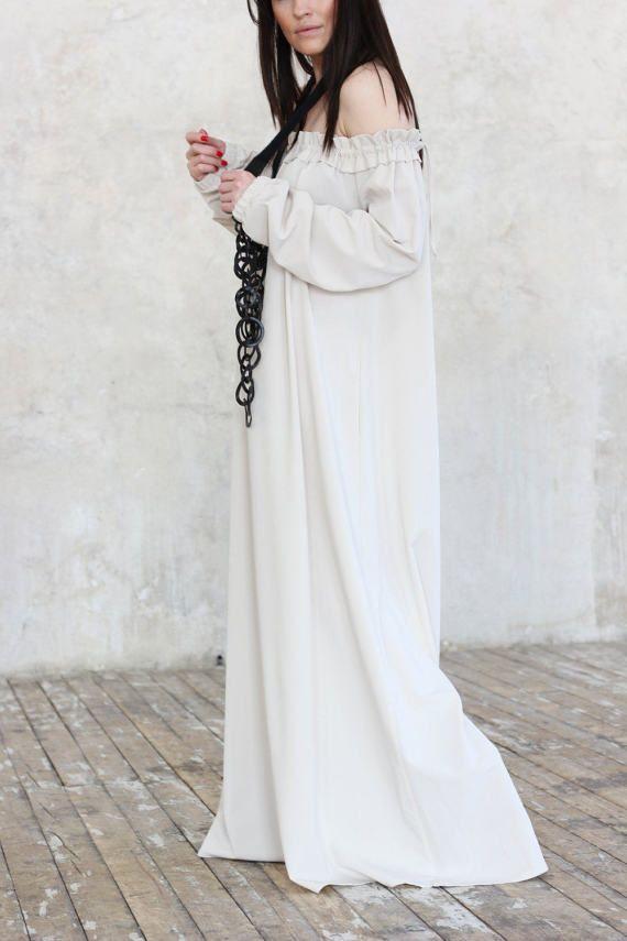 Длинное Платье /Свадебное Платье / Макси Платье/ Белое Платье/ Красивое Платье/ Романтичное Платье/ Вечернее Платье/ Свободное Платье