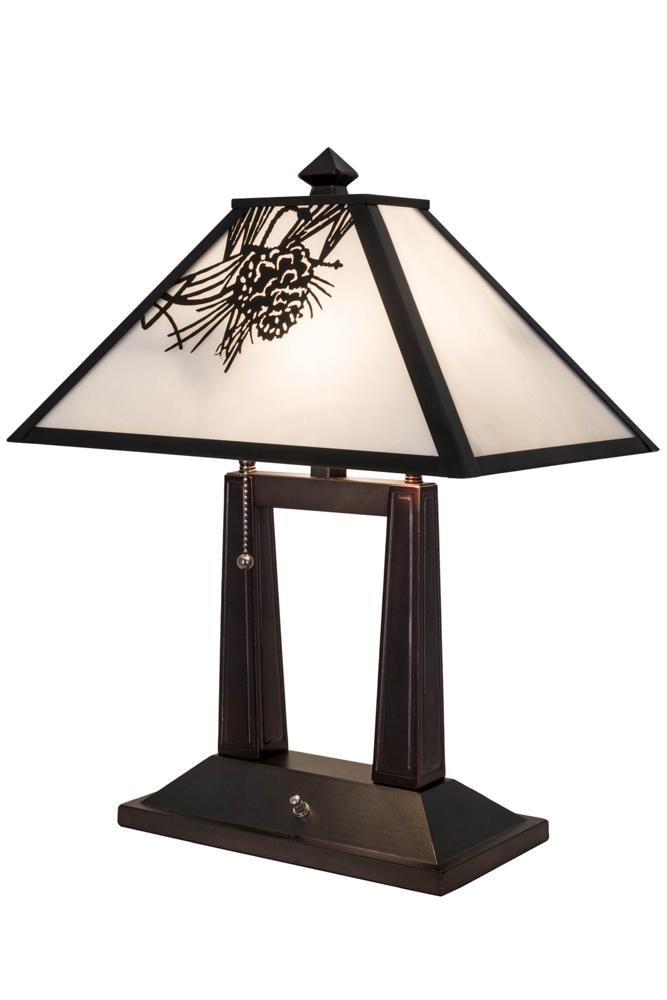Meyda 182011 20 H Winter Pine Table Lamp Table Lamp Lamp Pine Table