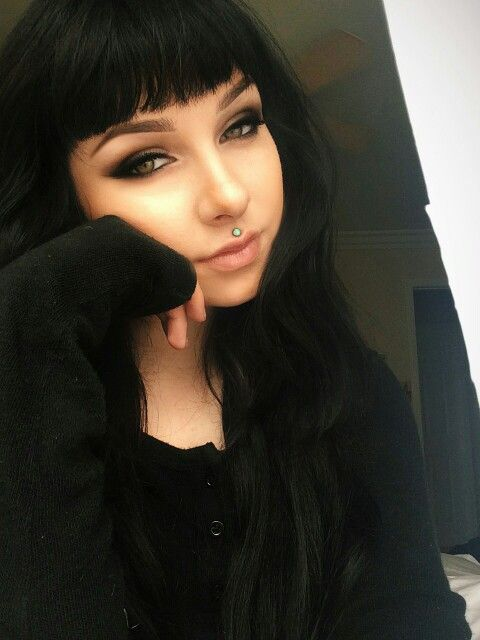 Love the makeup, hair, & medusa piercing!