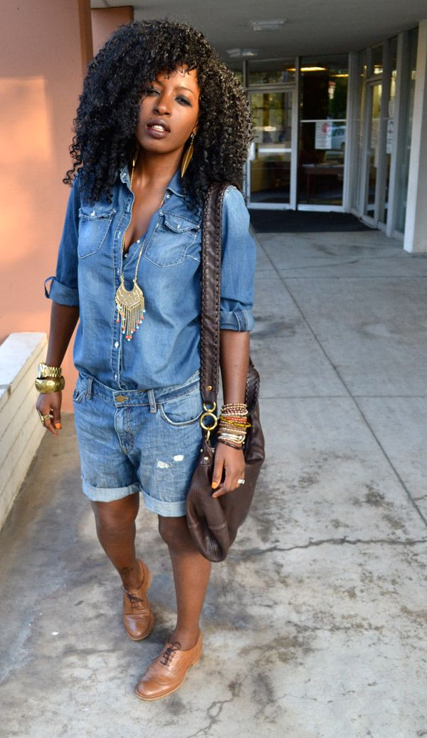 Style Pantry | Denim Shirt + Boyfriend Denim Shorts
