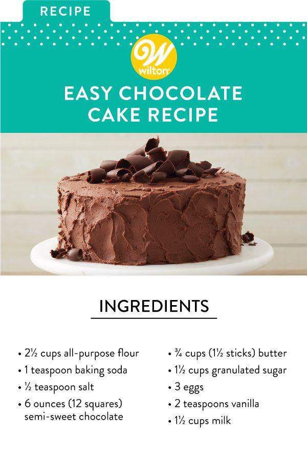 Chocolate Cake Recipe Recipe Chocolate Cake Recipe Easy Cake Recipes Easy Homemade Easy Cake Recipes