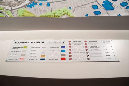 Légende maquette Louvain La Neuve