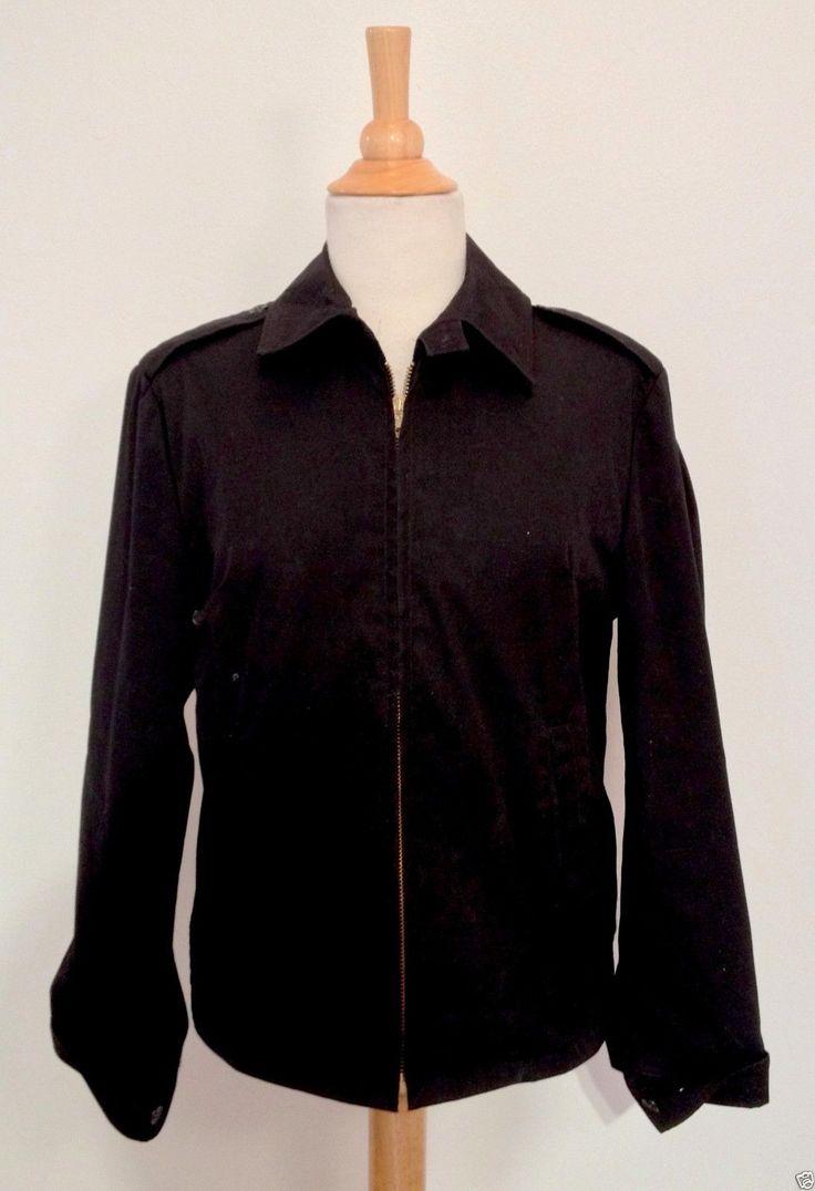 US Navy Jacket Coat 12 Long Black Windbreaker Neptune Garment | eBay