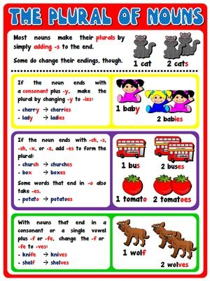 The plural of nouns - Poster