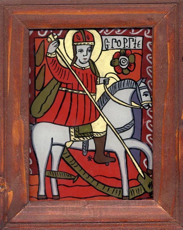 Icoane pe sticlă - Romanian Byzantine icon on glass http://www.moldovacrestina.info/2011/01/icoane-pe-sticla/