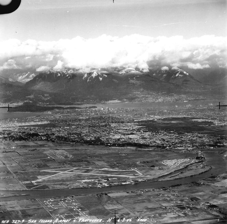 Old Aerial Photo of Vancouver AV-02