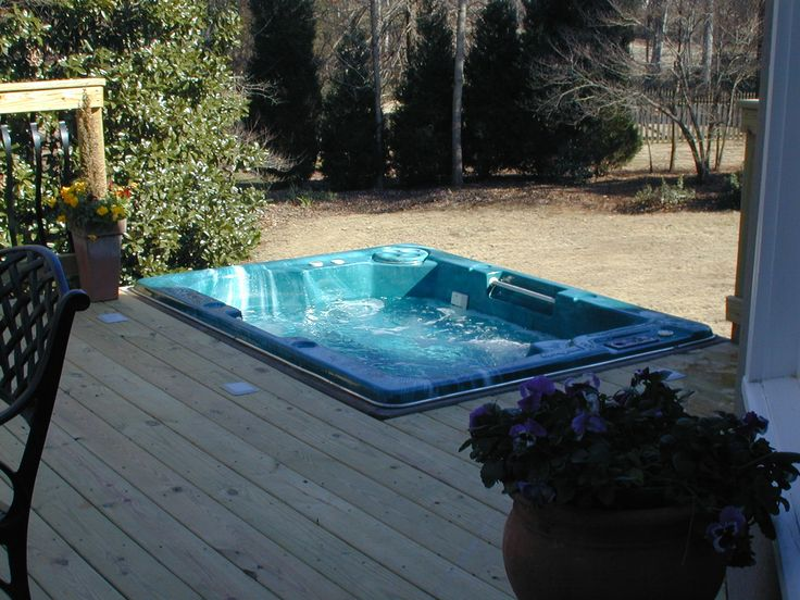 decks with hot tubs | spa deck in Macon, GA is a pristine example of a sunken hot tub deck ...