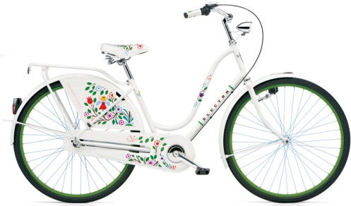 Electra Amsterdam Classic: Awesome bike featuring artwork by Alexander Girard. Fantastic!