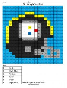 Pittsburgh Steelers- Advanced Division NFL Football Coloring pages   Could use for Rubiks Cube unit as well