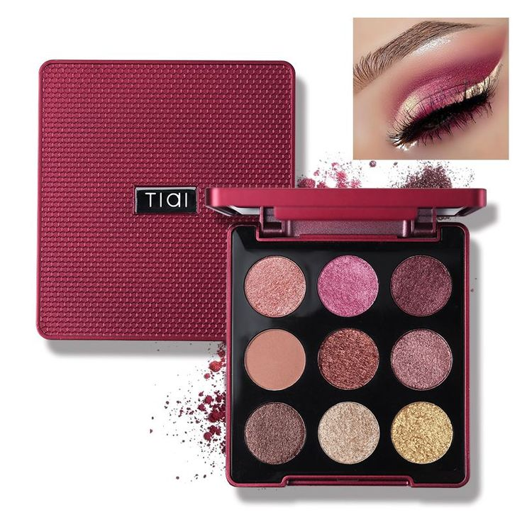 TIAI 9 Color Glitter Smooth Creamy Eyeshadow Palette With Mirror Makeup Nude Shimmer Matte High Pigment Waterproof Eyeshadow #Affiliate