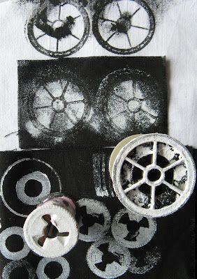mark making on fabric