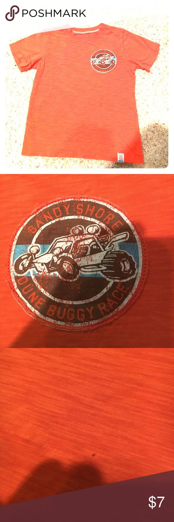Boys Carter's T-Shirt Adorable Carter's T-shirt Sandyshore dune buggy race size 5 100% fun there is a tiny pinhole on the front see pic tiny. Orange Carter's Shirts & Tops Tees - Short Sleeve