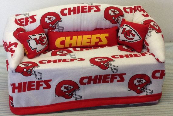 Kansas City Chiefs   Kleenex  Box Couch Cover. by wasp42608, $15.00