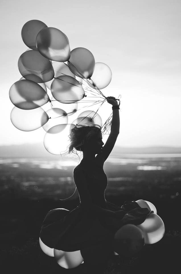 ↠Pinterest: deliriumrequiem  I believe that balloons represent our dreams. We cling on to them and let them go when they come true. We also try to keep them alive but its okay to blow another balloon.