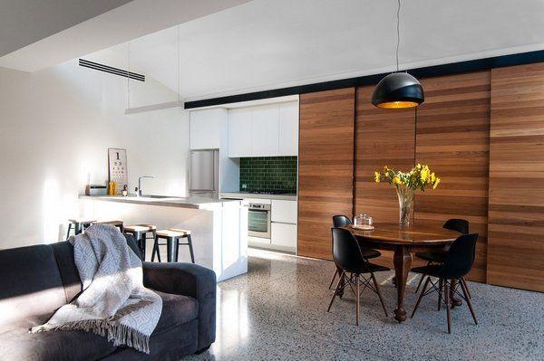 1000 ideas about sliding door room dividers on pinterest - Living room sliding doors interior ...