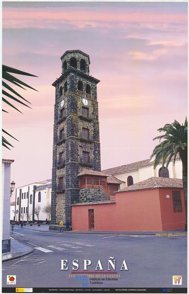 #Iglesia de San Cristobal de La Laguna en la #isla de #Tenerife en un #cartel de #turismo de 2003 / #LaLaguna #Spain #travel #viajar