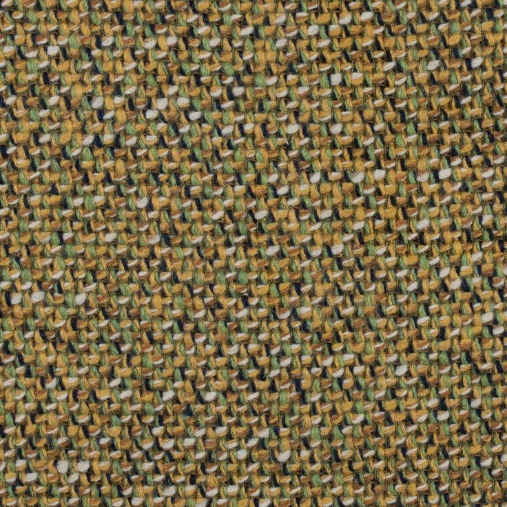 Ochre and Piquant Green Woven Wool Coating