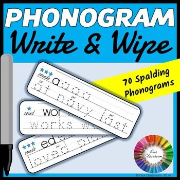 Spalding Phonogram Write & Wipe Cards. These are great for practicing all 70 phonograms of the Spalding Reading Program!