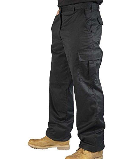 Size 34in Regular length  Mens Combat Cargo Work Trousers Size 30 to 52 With KNEE PAD POCKETS - By BKS: Amazon.co.uk: Clothing