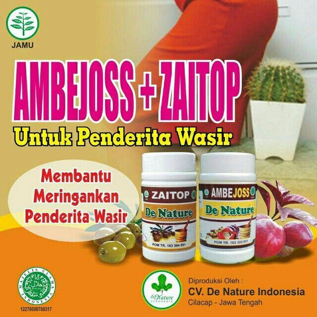 Saya menjual Obat Wasir Berdarah Ambejoss Denature seharga Rp295.000. Dapatkan produk ini hanya di Shopee! https://shopee.co.id/ariefjovanka/553498781/ #ShopeeID Dapatkan paket hemat dari obat wasir AMBEJOSS Dan zaitop De Nature Indonesia.   Wasir Stadium I II : Cukup menggunakan Kapsul AmbeJoss, Insya Alloh Sembuh Wasir Stadium III IV : Pengalaman saudara bapak Iswanto, wasir stadium IV, dengan kondisi sudah parah, dan wasir sudah keluar sebesar kelingking, bisa di sembuhkan dalam waktu…