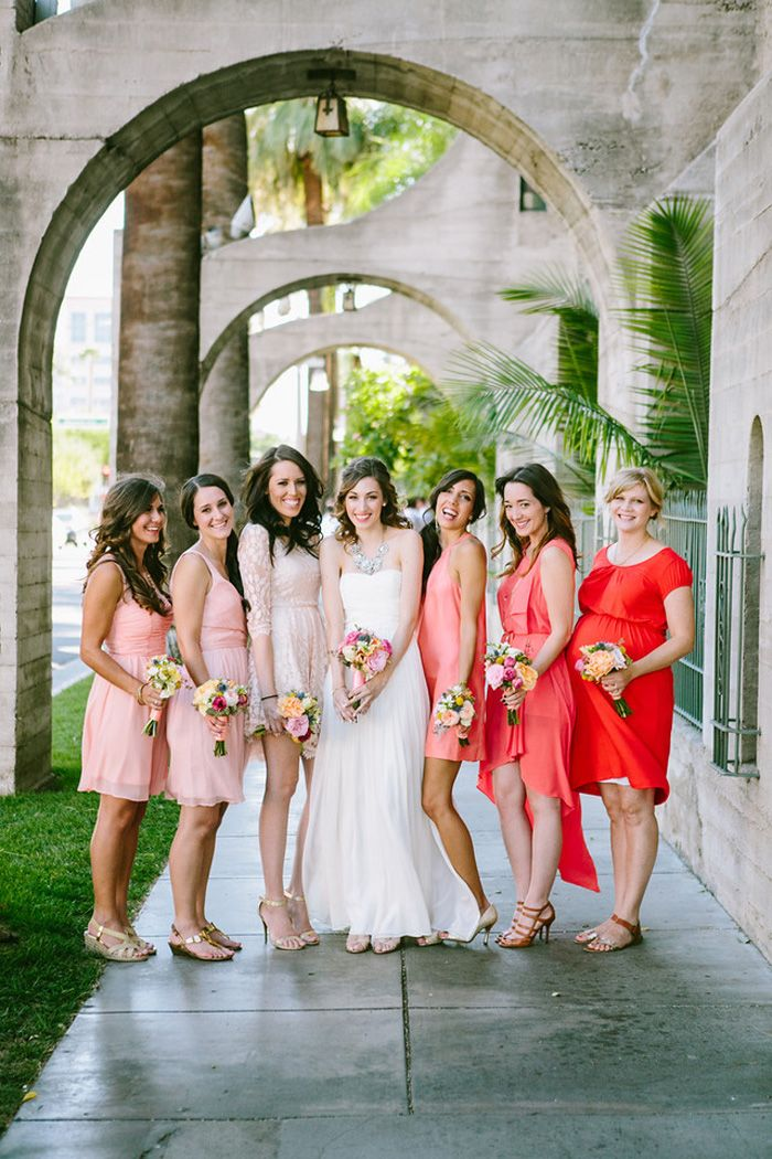 J.Crew Inspired Wedding at The Mission InnJ Crew Inspiration, Ombre Bridesmaid, Ombré Bridesmaid, Bridesmaid Dresses, Wedding Blog, Fade Colors, Weddings Attire, Dresses Summerwedding, Mission Inn