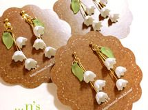 [Resale / orders production] lily of the valley earrings (earrings)