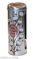 Boîte à coton démaquillant  Disques doux   métal décoré  Derrière la porte DLP