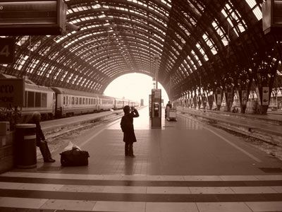 Milano Centrale station. I miss living in Milan and I really miss people watching in this station while waiting for the next train.