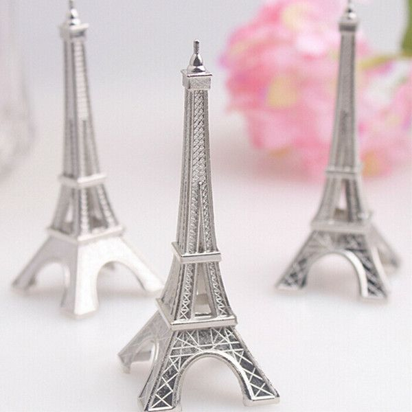 wedding favor silver eiffel tower place card holder with matching place card wedding decoration accessory