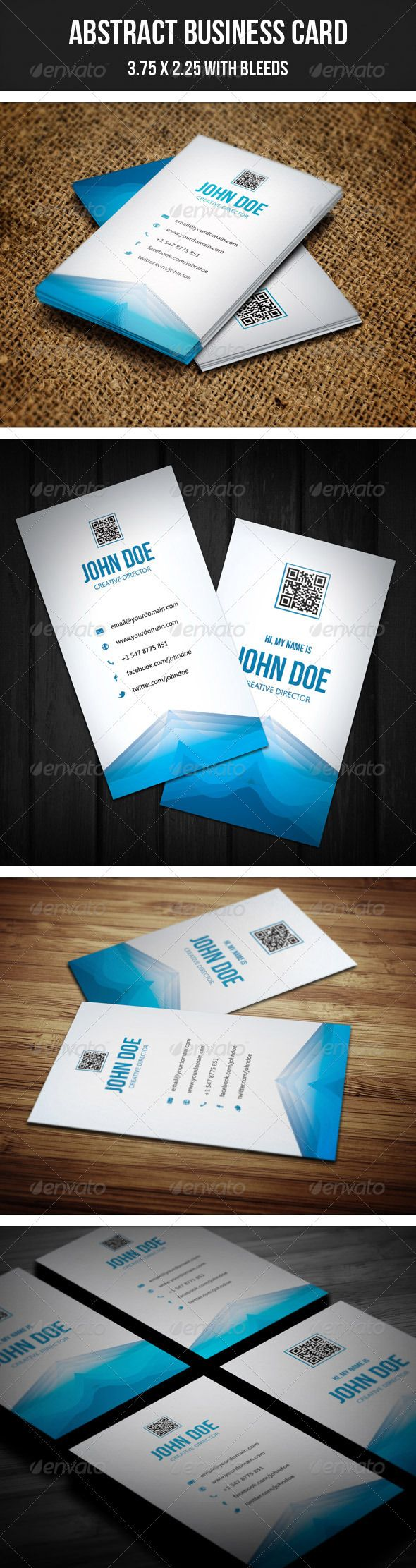 Business card printing free templates from nextdayflyers - Abstact Creative Business Card 28