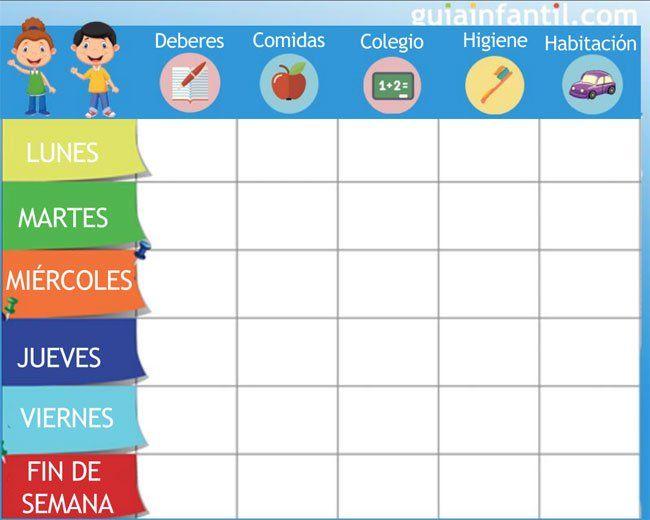 La Tabla De Puntos Para Mejorar La Conducta Del Niño Recompensas Para Niños Responsabilidad Para Niños Horario Para Niños