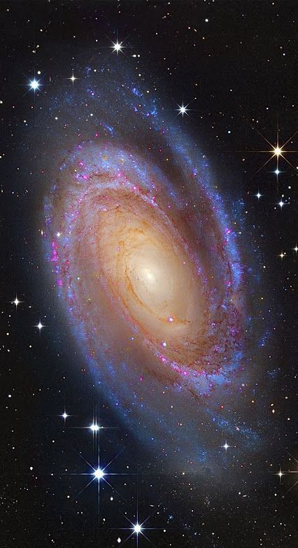 Bright #SpiralGalaxy #M81 One of the brightest galaxies in planet Earth's sky is similar in size to our Milky Way Galaxy: big, beautiful M81. Image Credit: Subaru Telescope (NAOJ), Hubble Space Telescope; Processing & Copyright: Roberto Colombari & Robert Gendler