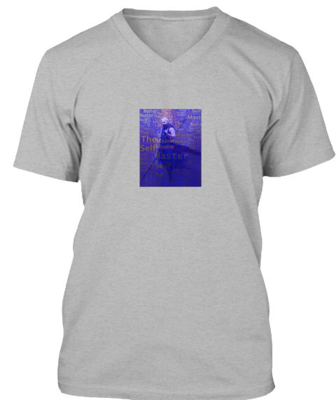 Master The Self Athletic Heather T-Shirt Front