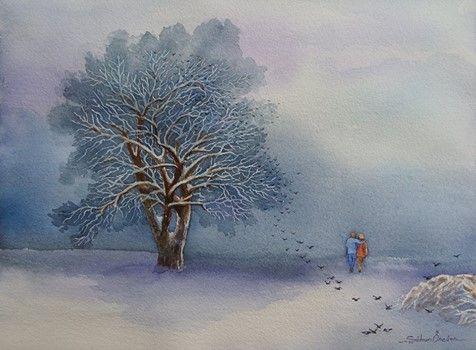 """Convergence"" 28x38 cm watercolor painting by #artist Şükran Öncüer #freelancetalents #art #watercolor"