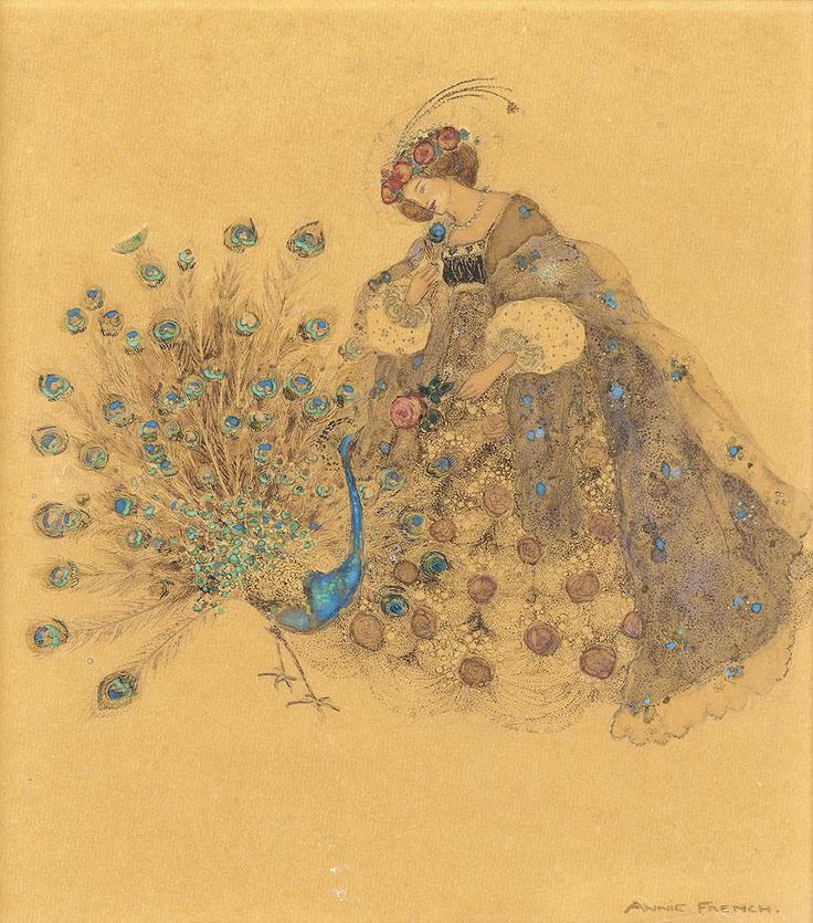 """Annie French (1872-1965) """"The Peacock and the Rose"""""""