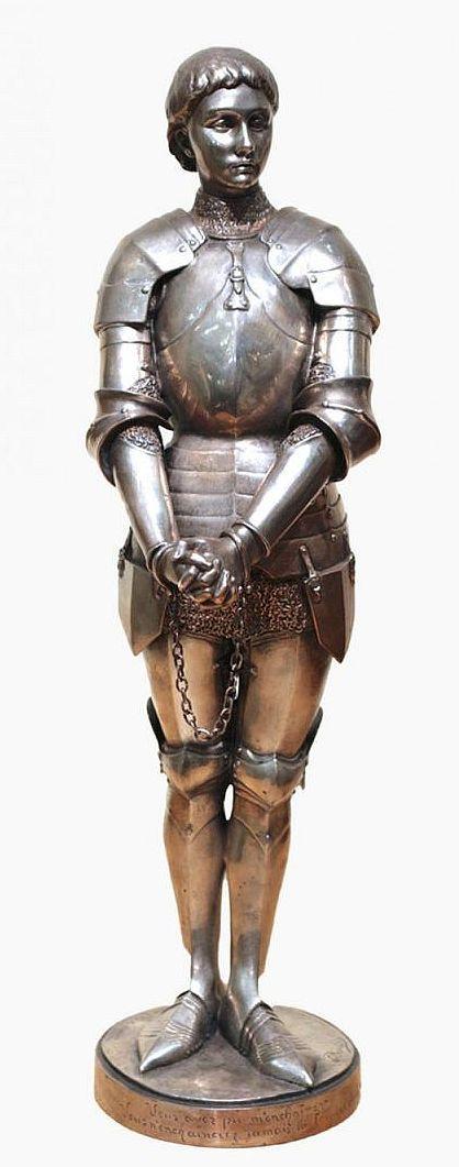 Louis-Ernest BARRIAS (1841-1905) - Bronze Jeanne d'Arc enchainée