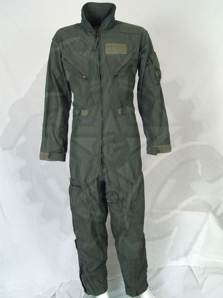 Army Surplus * Military Surplus * Hunting Gear * Camping Gear * Outdoor Equipment USAF CWU-27/P Flyers Coveralls Fire Resistant Material Condition: Good (see pics & detailed description above) Sizes: Click Drop Down Menu Above These Air Force Flight Suits are standard issue for all Flight Crews. Made of 92% Meta Aramid, 5% Para Aramid, 3% Conductive Fibers. Aramid is a synthetic fiber that has strong heat-resistant properties. These have a front main zipper and ankle zippers for fast on/off…