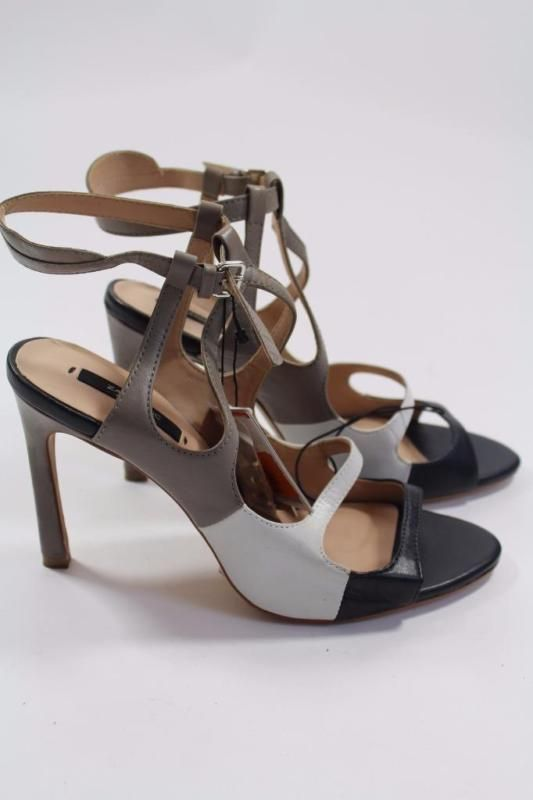 ZARA MULTI COLOURED STRAPPY HIGH HEEL ANKLE SHOE BOOTS SIZE UK6 US8 EUR39