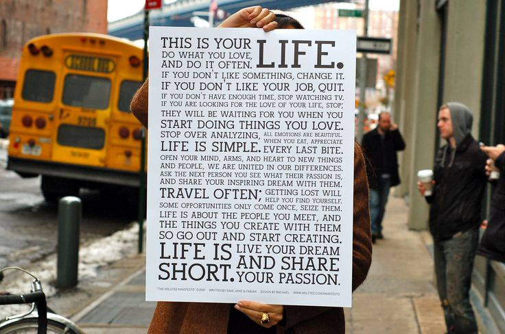 ..............easy for you to say   ; )Absolute, Holstee Manifesto, Quote, Life Manifesto, So True, Life Mottos, Live Life, Advice, Wise Words