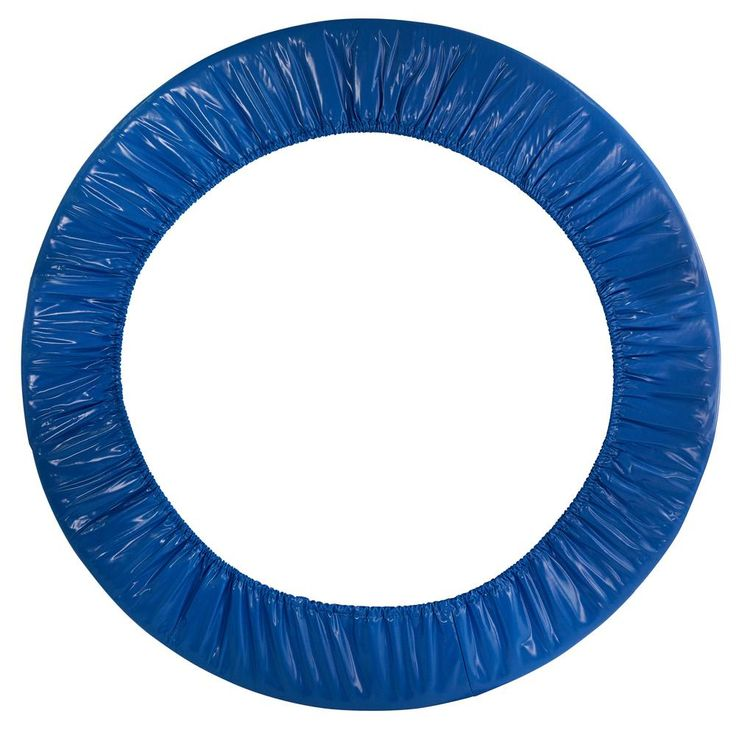 44 in. Mini Round Trampoline Replacement Safety Pad in Blue with Spring Cover for 6 Legs