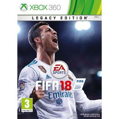 Xbox 360 FIFA 18  Betreed het virtuele voetbalveld met de FIFA 18 Legacy Edition voor de Xbox 360! FIFA 18 Legacy Edition kent een bijgewerkte visuele identiteit met een nieuw ontwerp voor de interface en menuschermen in de game.  EUR 56.99  Meer informatie