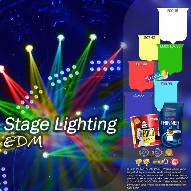Stage Lighting EDM #Inspirasi #Warna #EMCOPaint http://matarampaint.com/detailNews.php?n=306