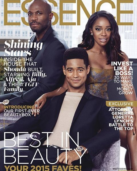 """Essence Magazine October 2015 cover: """"HTGAWM"""" stars Billy Brown, Alfred Enoch and Aja Naomi King"""